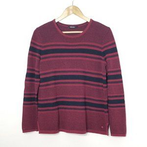 Olsen | Striped Knit Pullover Crew Neck Sweater S